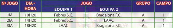 Bairrada Cup 2019 Calendário Infantis1