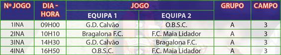 Bairrada Cup 2019 Calendário Iniciados1